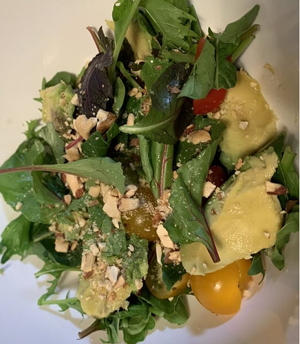 Busy day's green salad