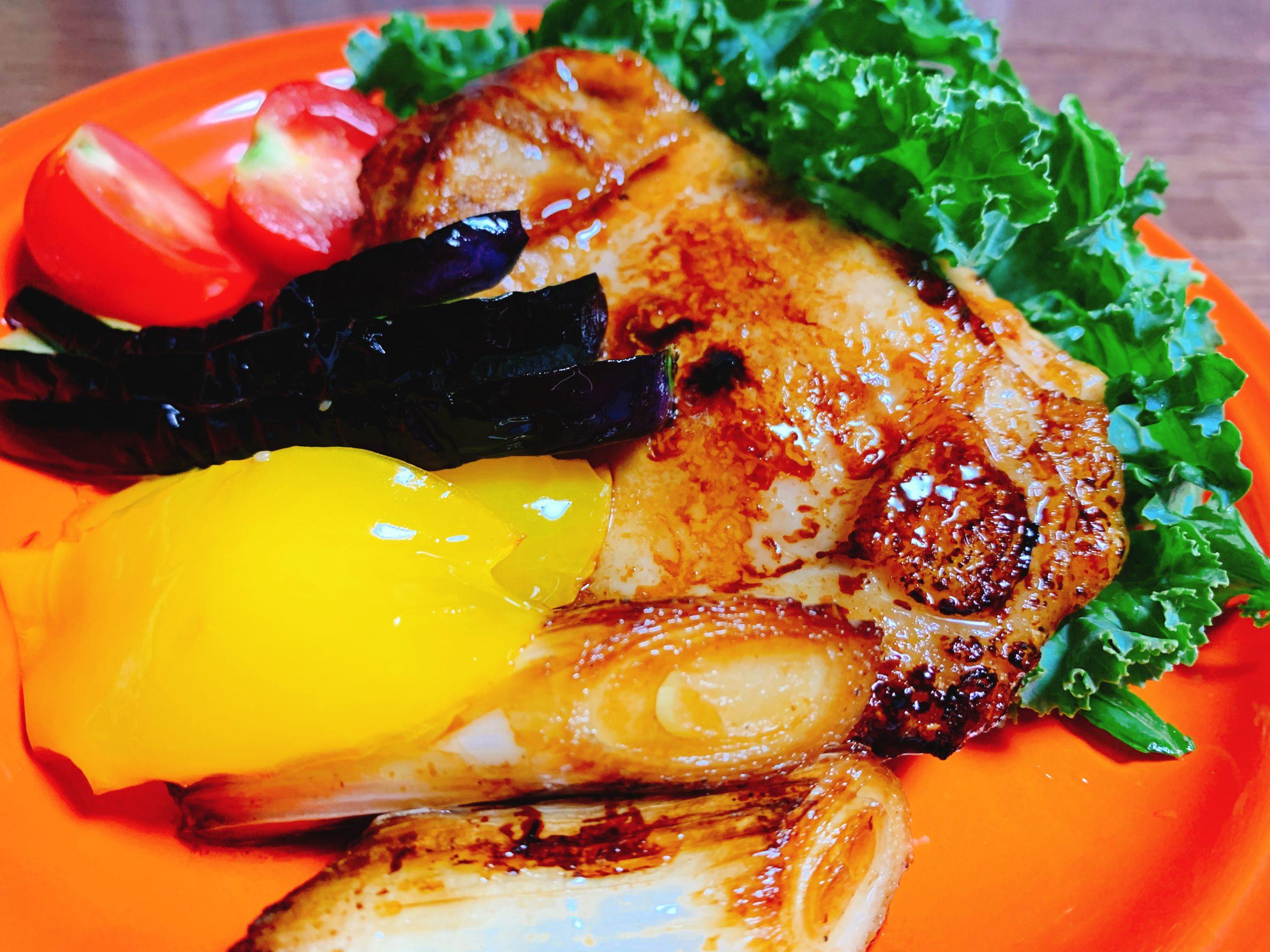 黒酢ソースチキンソテー