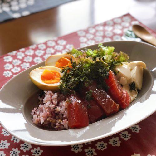 マグロと豆腐丼