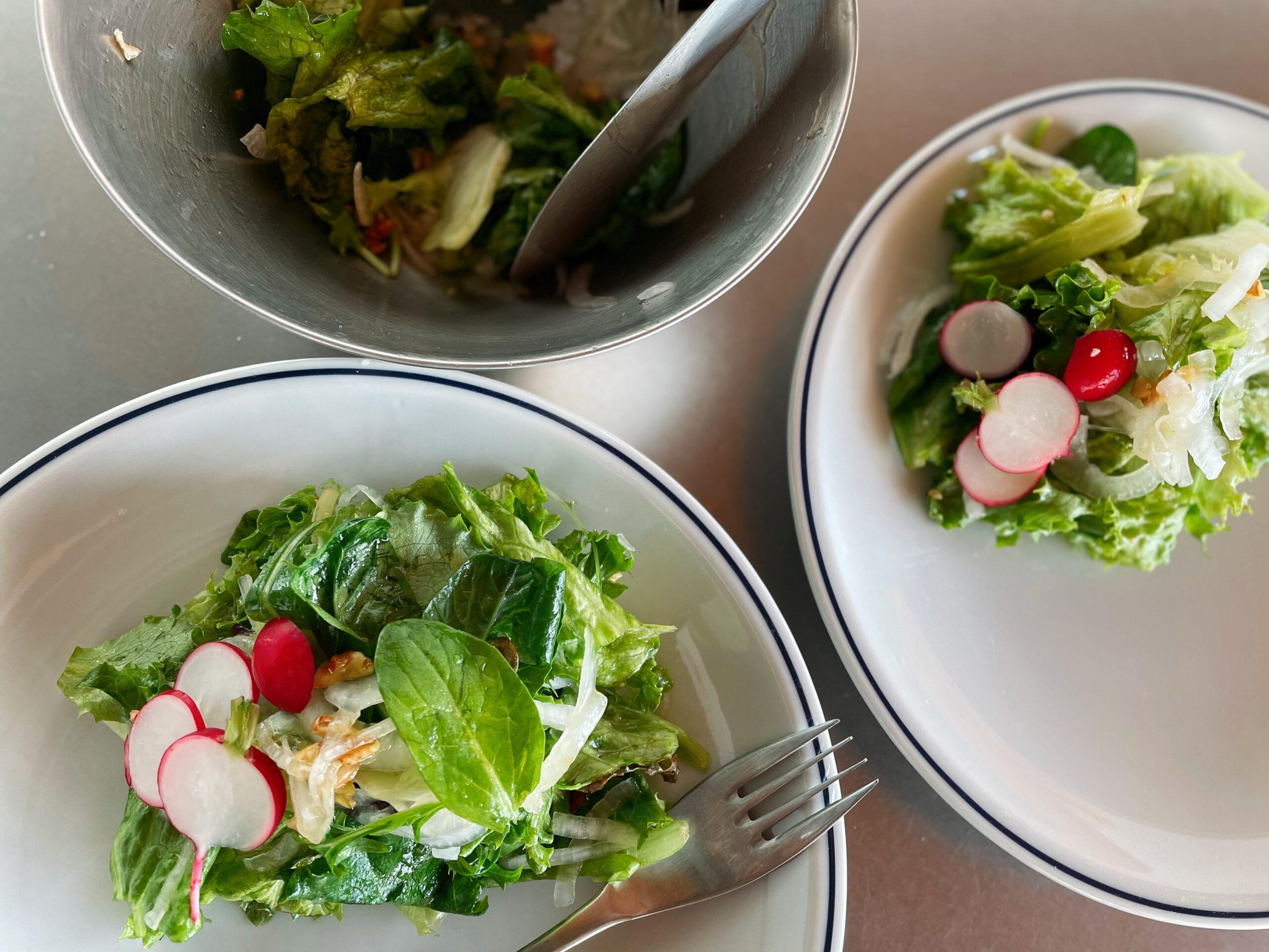 新玉ねぎのグリーンサラダ